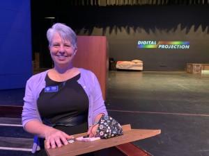 Principal Luscher interviewed in Sobrato Theater